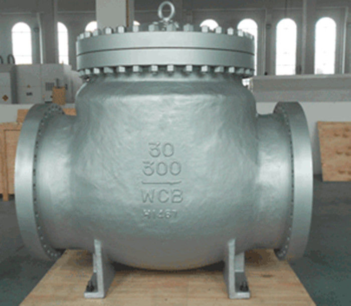 Carbon Steel BW WCB Swing Check Valve Hardfaced With 13 CR RF , Precision Machined Castings